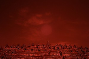 Borobudur in Red