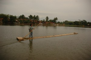 The raft of a fisherman