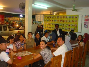 Non-so-formal SEAYAC dinner during the APRIM