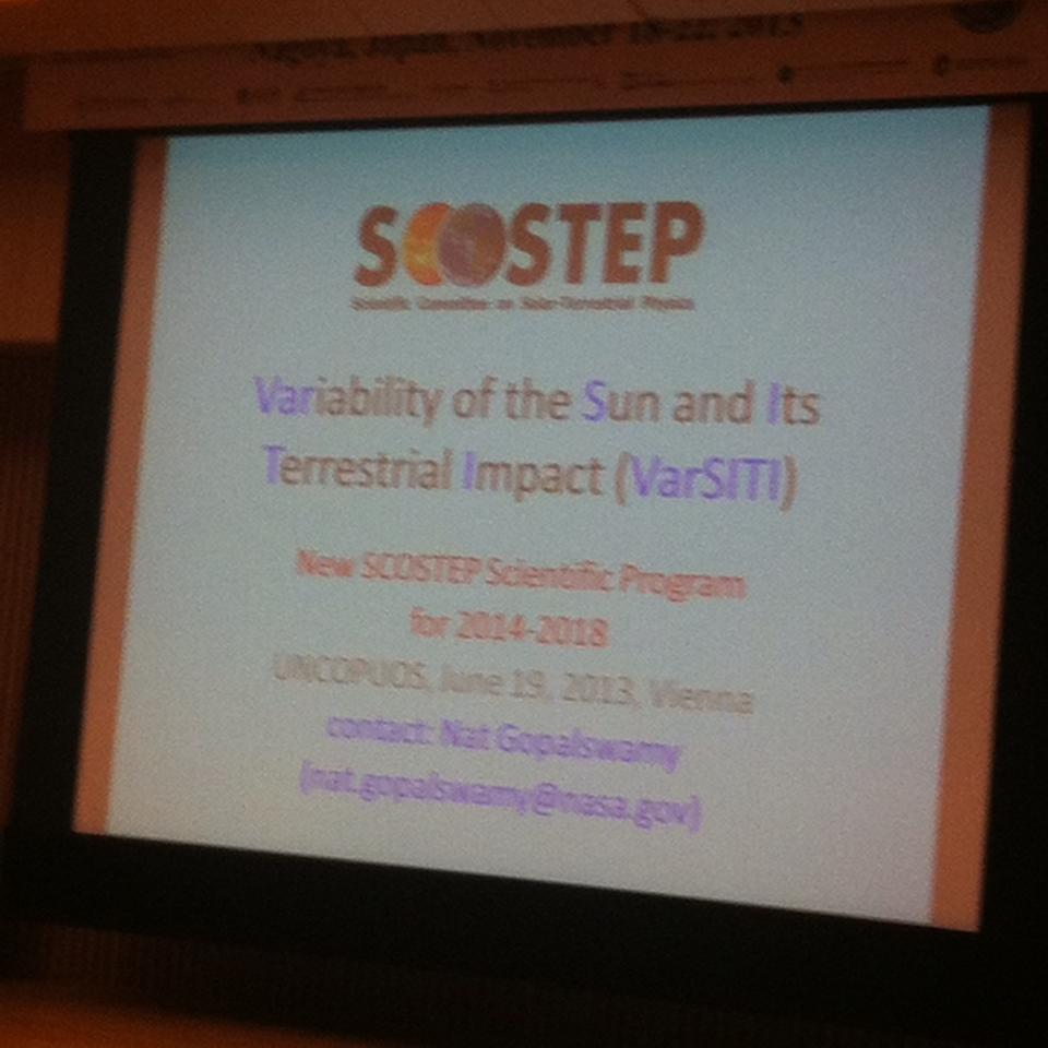 VarSITI is the next SCOSTEP scientific program for 2014-2018.