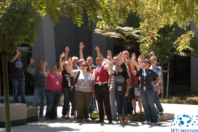 SETI Institute employees waving at Saturn - picture 3