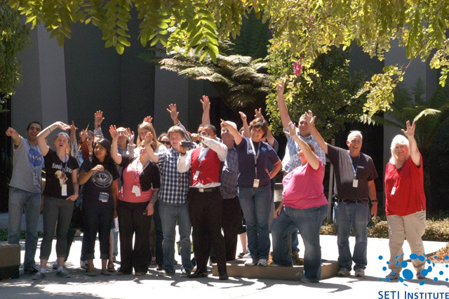 SETI Institute employees waving at Saturn - picture 2
