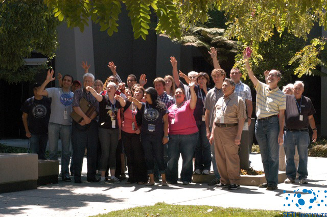 SETI Institute employees waving at Saturn - picture 1