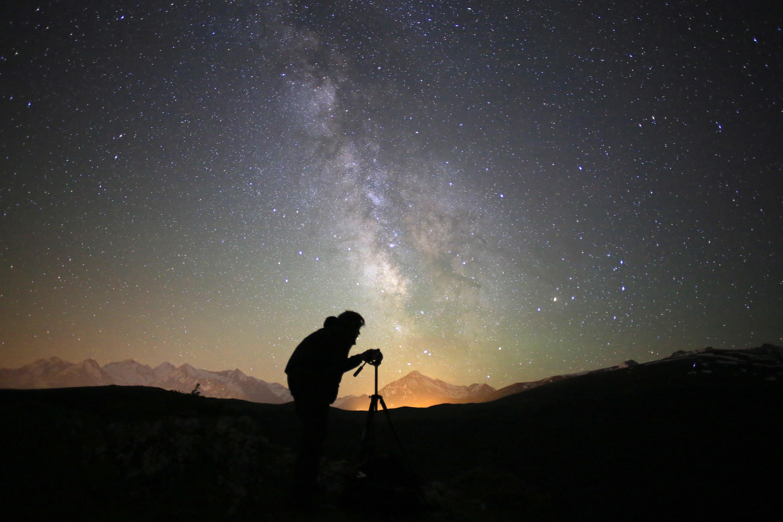 ciel étoilé mesuré au dessus d'Aulon