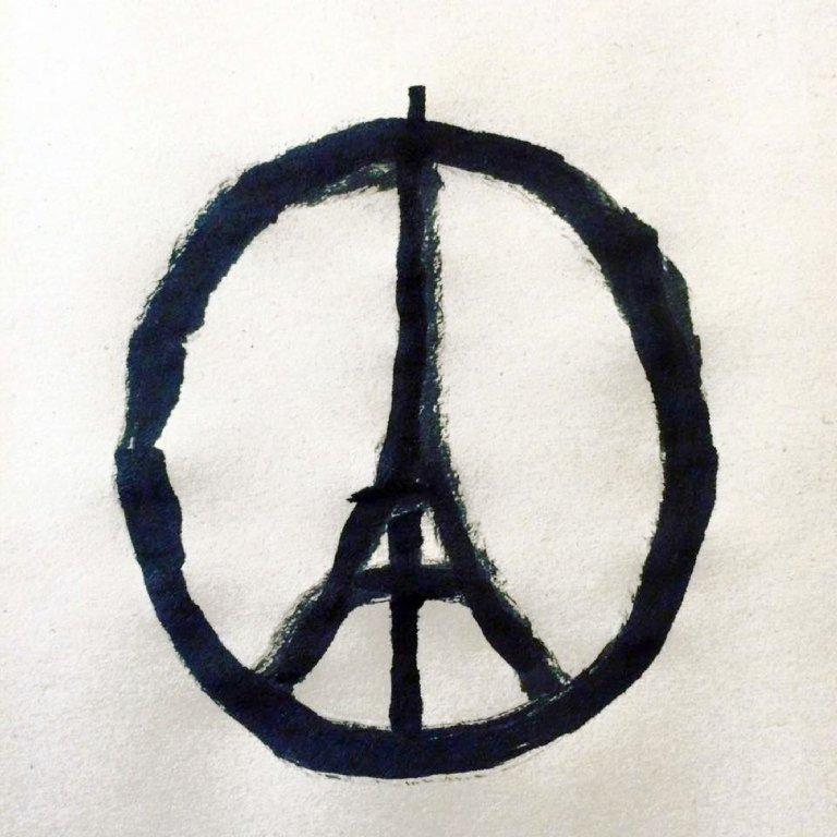 PeaceForParis by the artist Jean Jullien