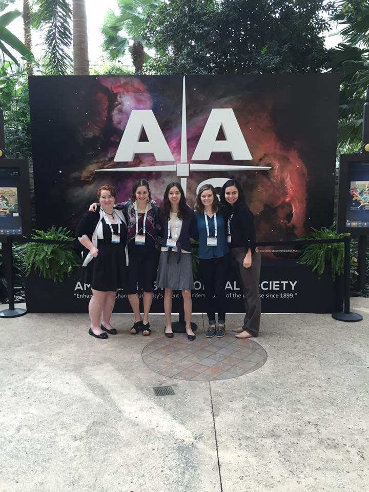 Sarah Blunt and her colleagues at the AAS Meeting in 2017