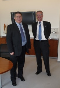 Sergio Bertolucci (left) and Tim de Zeeuw (right), Director general of ESO.