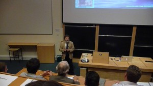 Prof. R. Pierrehumbert giving the 2009 Halley Lecture in Oxford.