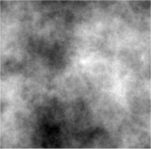 A computer simulated fractal interstellar cloud (credit F. Patat).