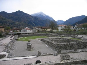 The relics of the Roman Forum in Zuglio (Jiulium Carnicum)
