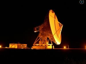 The 32m parabola of the Medicina radio-telescope.