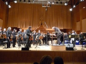 Michael Abene, the WDR orchestra and Big Band playing with Glauco Venier (photo by the author).