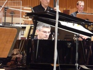 Glauco Venier in Cologne, playing with the WDR Orchestra and Big Band (photo by the author).