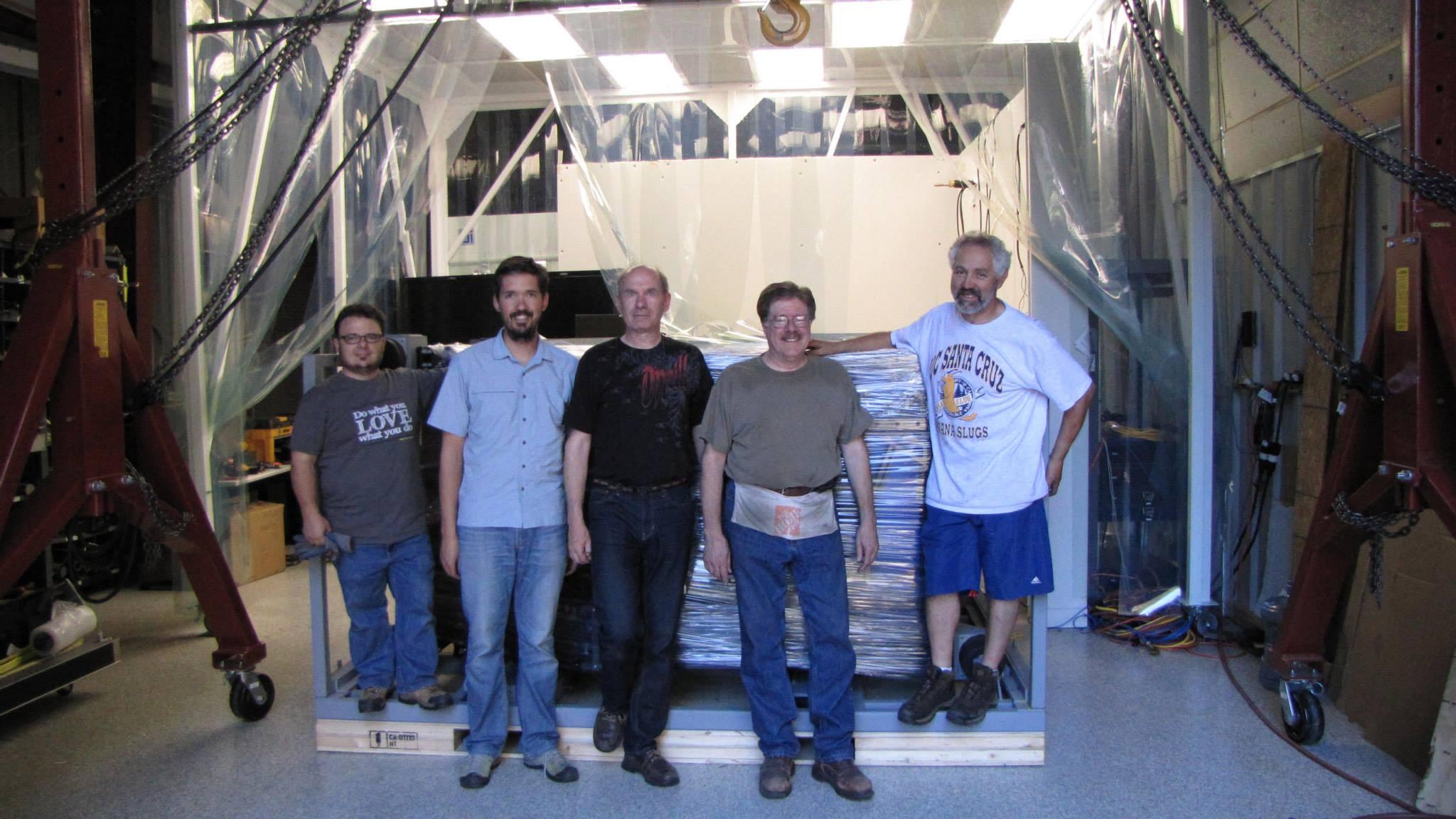GPI packing team - with Daren Dillon, Gaston Gausachs, Kris Kaputa, Jim Ward and Andre Anthony