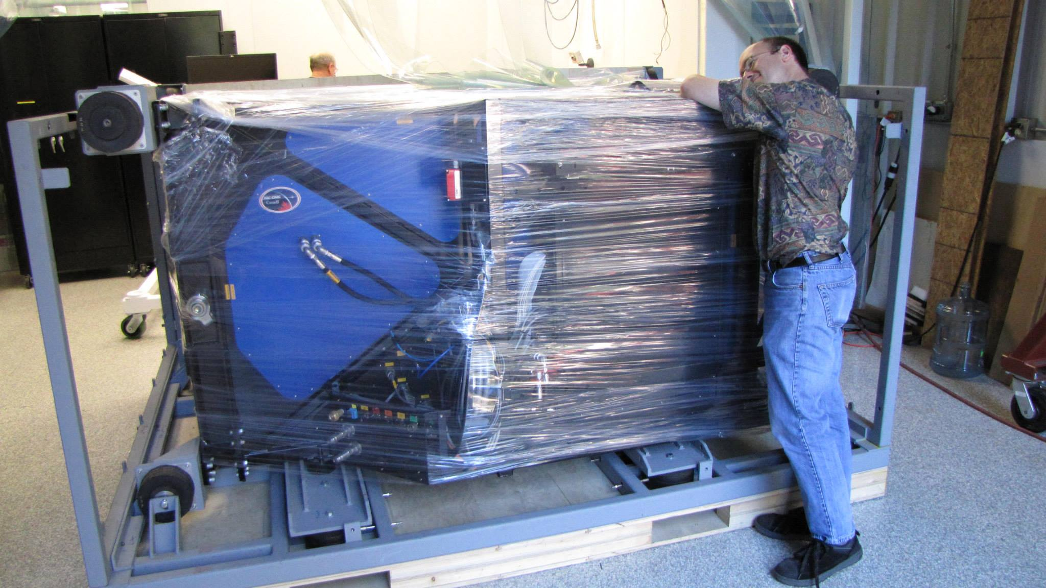 Bruce Macintosh, Principal Investigator of the instrument having a little moment of separation anxiety during the packing.