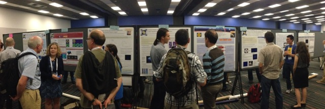One of the walls of GPI-focused papers at #SPIEastro in Montreal on Monday June 23 (credit: M. Perrin)
