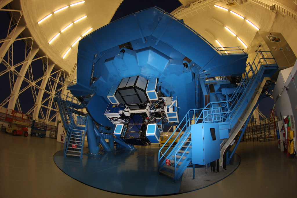 GPI instrument at the Cassegrain of the Gemini South telescope. credit: Jerome Maire