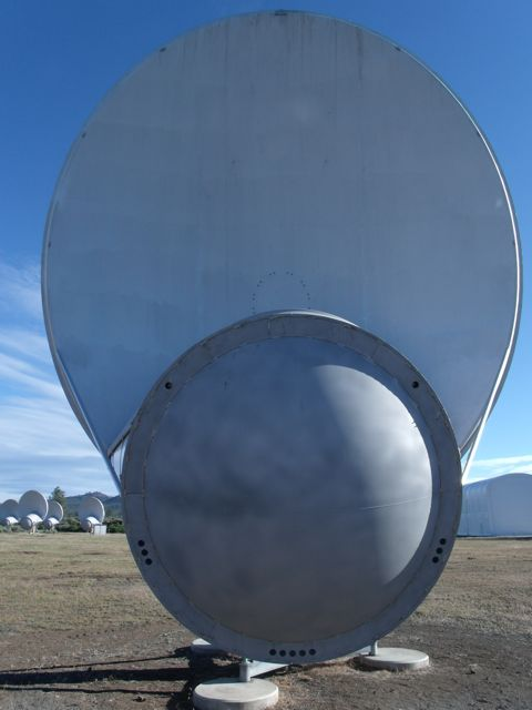 One of the 42 dish antennas