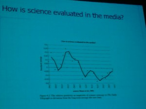 How is science evaluated in the media